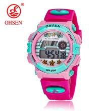 OHSEN Men's Digital LED Display Sport Watches Quartz Watch Men Sports Watches Relogio Masculino 30m Waterproof Wristwatches 1308 цена