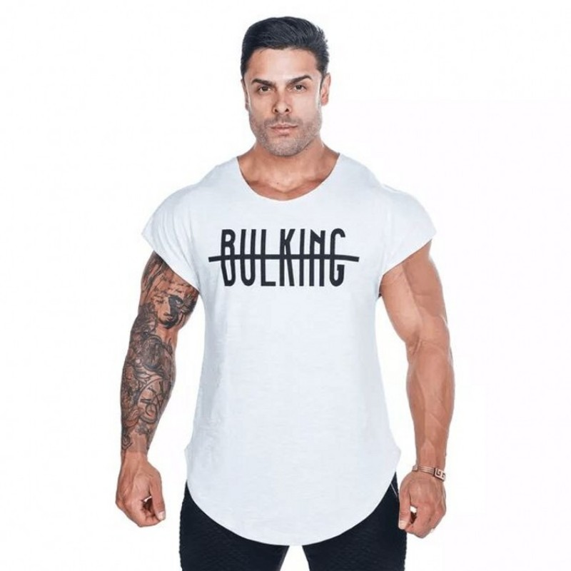New Fashion Brand fitness Bodybuilding Racerback   Tank     Tops   Men Fitness Sleeveless Vest Cotton Singlets brand Muscle Shirt