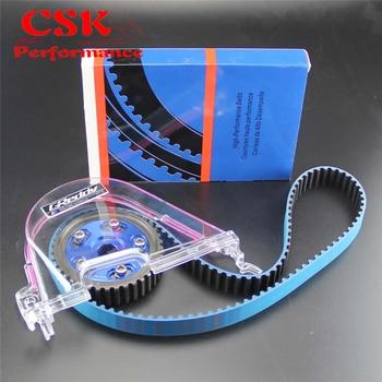 Timing Belt Cover +Cam Pulley w Belt Kit For Honda Civic D15 D16C 96-00 header civic eg
