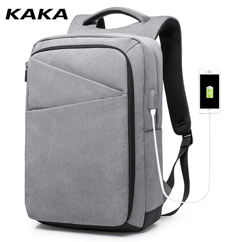 KAKA new fashion mens backpack USB charging travel pack sports bag pack business notebook laptop anti theft backpacks for maleKAKA new fashion mens backpack USB charging travel pack sports bag pack business notebook laptop anti theft backpacks for male