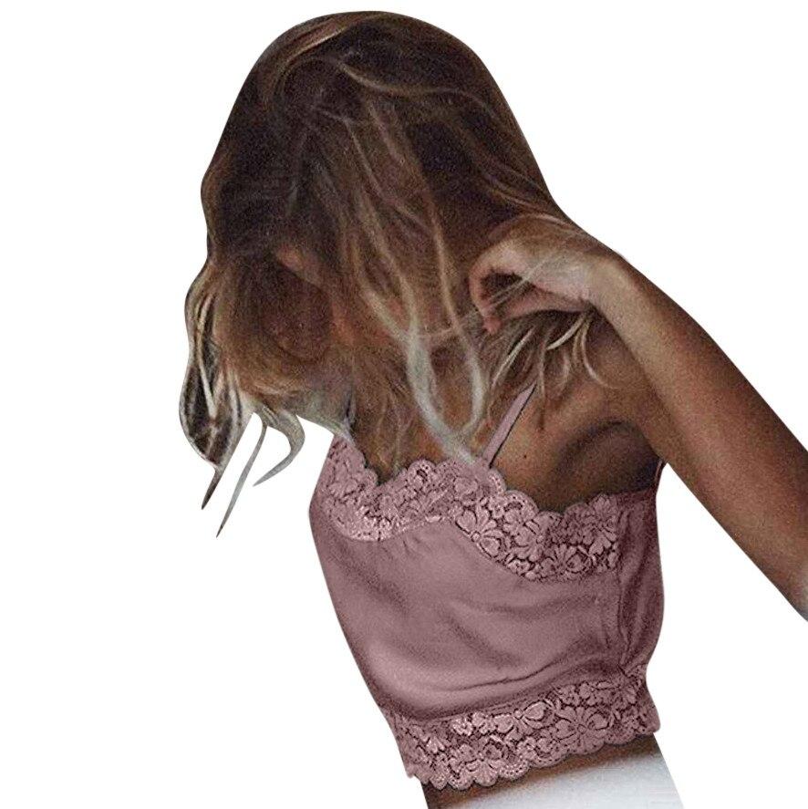 100% QualitäT Frauen Damen Crop Top Sexy Seide V Neck Ärmel Tank Top Sling Camis Top Weibliche Blusas Femininas De Verao 2019 Profitieren Sie Klein
