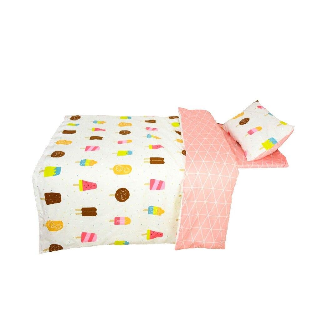 3 Stücke Baby Bettwäsche Set Baumwolle Krippe Bettwäsche Kit Für Junge Mädchen Cartoon Umfasst Kissenbezug Bettlaken Duvet Abdeckung Ohne Füllstoff Bettwäsche-sets Baby Bettwäsche