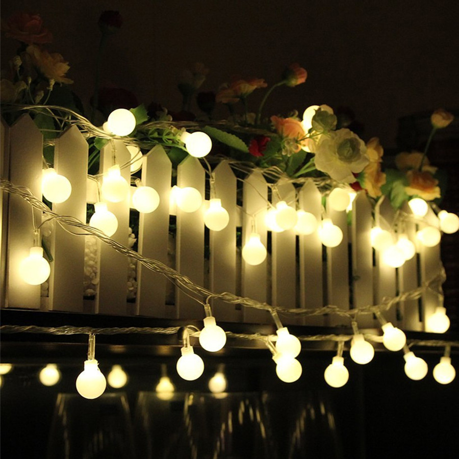 3M 4M 5M Ball Christmas String lights Outdoor AA Battery Powered Fairy String Garland Light Holiday Wedding Decoration lighting