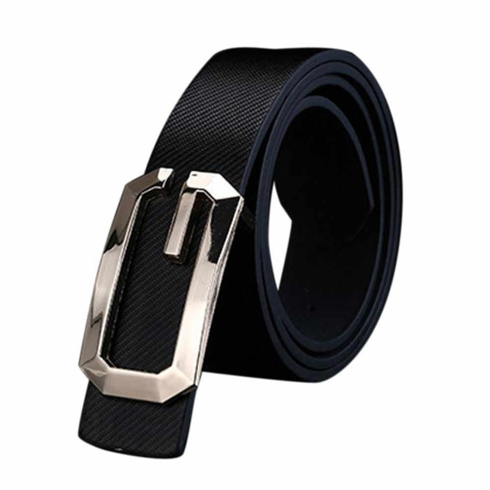 Jaycosin belt Men and Women's Faux Leather Smooth Buckle Casual Pants with Luxury Belts Men's and Women's New Fashion Classics