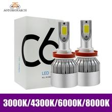 AOTOMONARCH 4300 K H11 H7 H1 светодиодный H4 H3 9005 9006 9012 880 881 светодиодный фар автомобиля H8 H9 авто лампы для всех автомобилей 8000 K 3000 K 6000 K CE