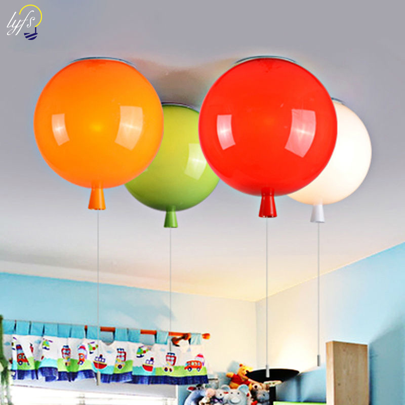 Lovely ceiling lights Diameter 25cm Multicolor Balloon Lamp Children Bedroom Lights Modern Brief Bedroom Bedside Lamp lola toys long pleasure chain черная анальная цепочка из силикона page 1