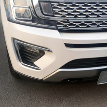ABS Chromed Exterior Front Fog Light Lamp Cover Trim 2 PCS For Ford Expedition 2018