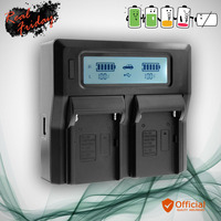 LCD usb AC DC Dual Channel Intelligent Battery Charger Quick charge For Sony FV FH FP NP FV100 FV70 FV50 NP FH100 FH70 FH60 FH50
