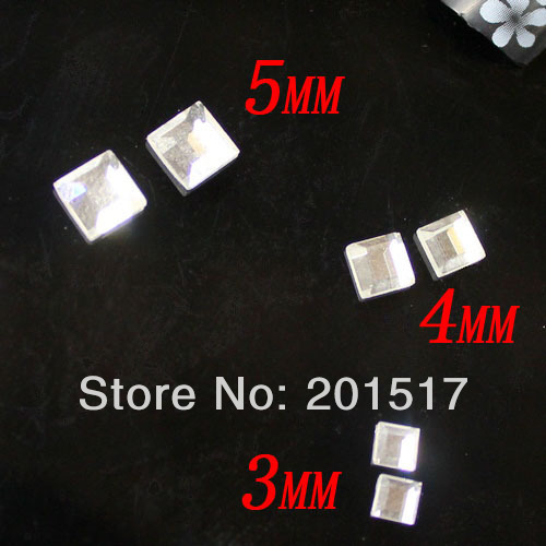 500pcs faceted small square crystal glass flatback stones nail art 500pcs faceted small square crystal glass flatback stones nail art supplies 3d nail art sticker crystal prinsesfo Images