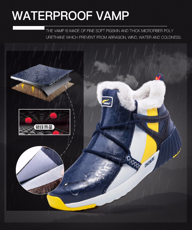 ONEMIX New Winter Running Shoes for women Comfortable Women's boots Warm Wool Sneakers Outdoor Unisex Athletic Sport Shoes women 12