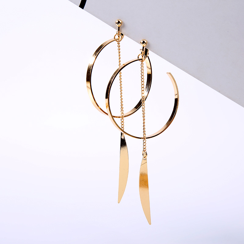 Opened Circle Ear Cuff Clips Women Big Arc Pendant Long Clip on Earrings for Women Girls Cartilage Jewelry non Without Pierced in Clip Earrings from Jewelry Accessories
