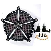 BJGLOBAL Motorcycle Aluminum Intake Air Cleaner Filter Kit for Harley Sportster XL 883 1200 04 16 Sporter XL 1200 91 16