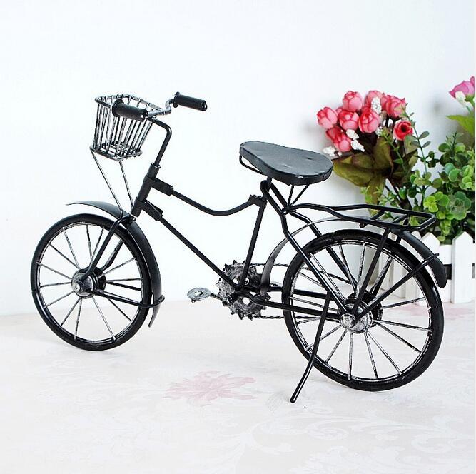 Store Vintage Metal Cykel Ornamenter Desktop Håndværk Cykel Figurer - Indretning af hjemmet - Foto 4