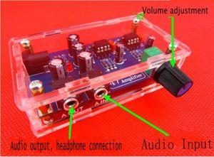 Image 2 - Портативный комплект платы усилителя для наушников, Комплект модуля AMP для классического 47 DIY + чехол