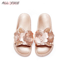 ALL YIXIE 2019 Fashion Women Slippers Summer Autumn Sequins Beach Home Flip Flops Comfortable Flat Shoes Female
