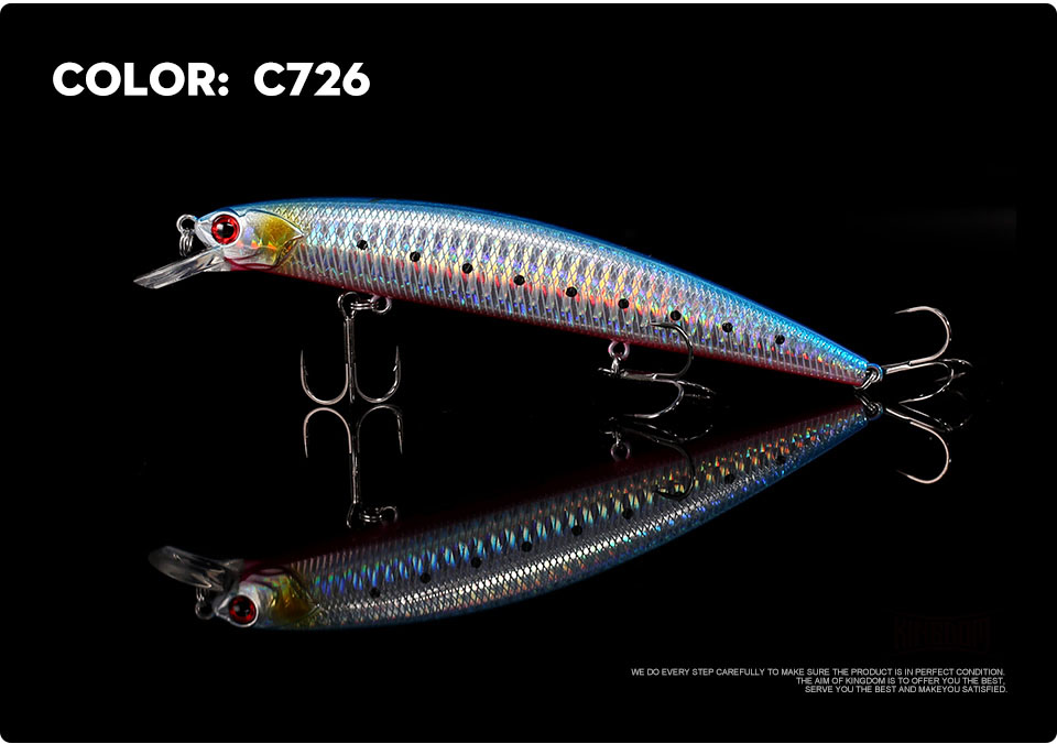 _16Kingdom 130mm20g Fishing Lure Jerkbait Floating Minnow Decoy Fishing Tackle Wobblers Strong Hook For Sea Water Model 3523