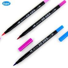1 pc Sipa Japan Weichen Metall Pinsel Stifte Aquarell Marker Pens Malerei Schriftzug Stifte Japanischen 36 Farben