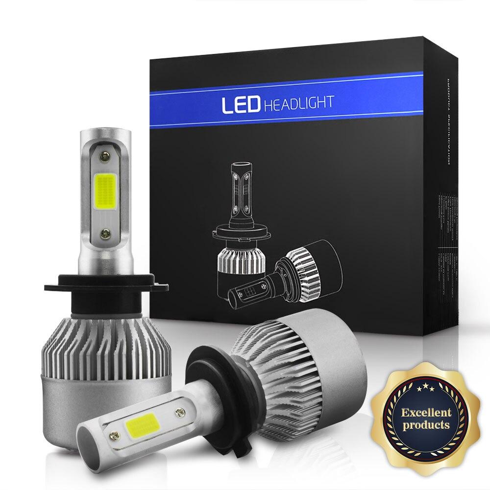 TXVSO8 LED H4 H7 H11 H9 H8 9006/HB4 H1 H3 9005/HB3 9004 9012 Auto Car Headlight Bulbs 36Wx2 8000LM 6500K Lamp