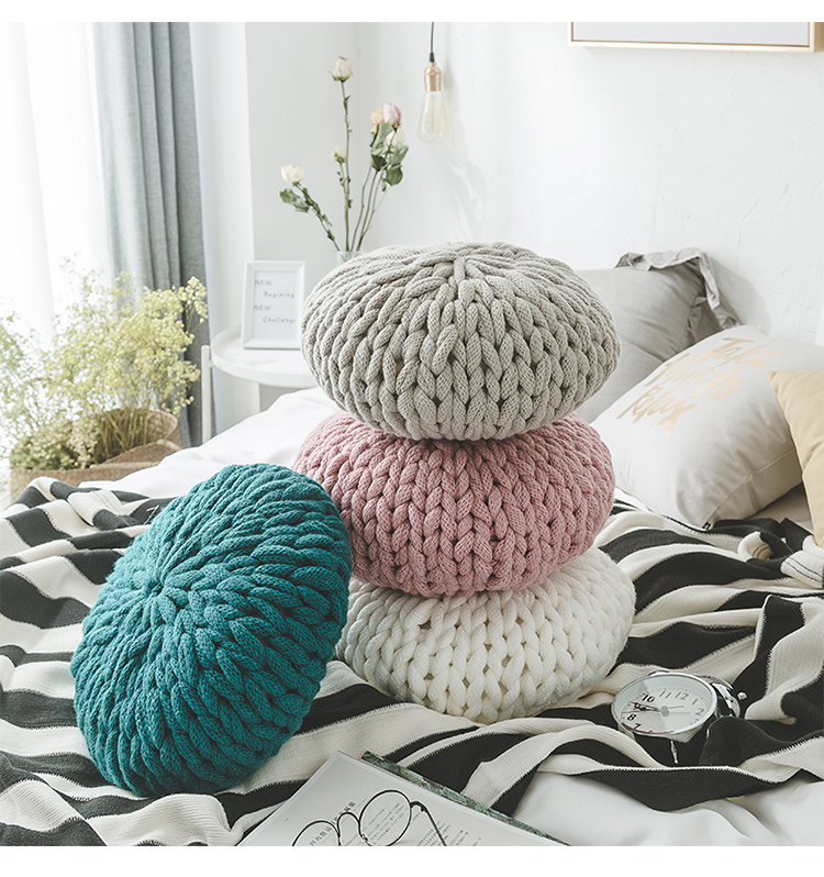 New Round handmade sewing style Cushion Pillow acrylic pure home sofa bed room adult child lover beauty Dec wholesale FG811-2