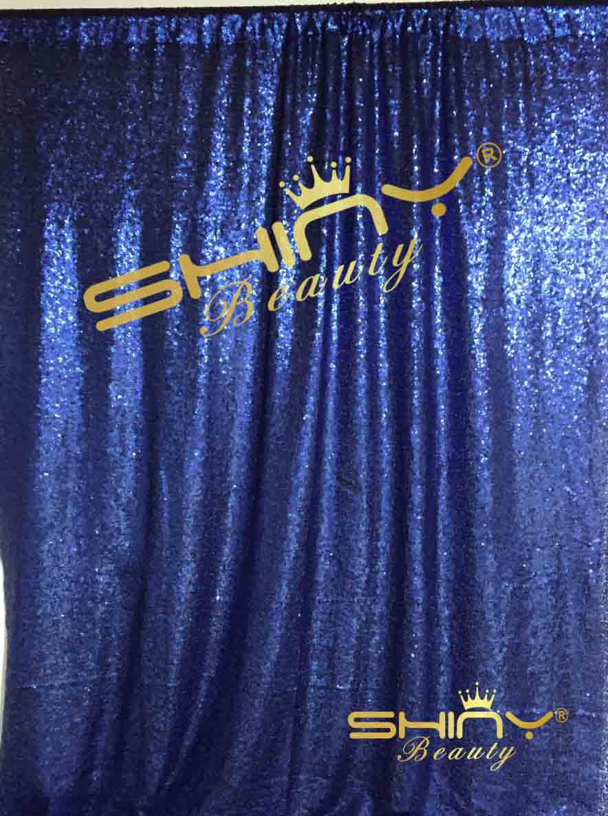 Shinybeauty 6x8ft dark blue sequin photo backdrop curtain for Background curtain decoration