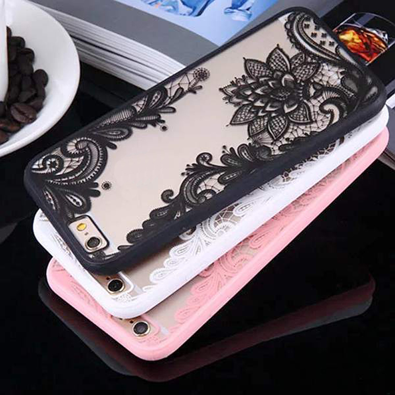 Fashion Sexy Lace Floral Henna Paisley Mandala Palace Flowers matte Hard Phone Case Cover For iphone 5 5s 6 6s 6Plus 6sPlus