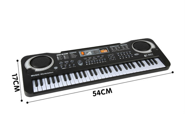 61 Keys Electronic Piano Keyboard with Microphone Toys Kids Early LearningToy Musical Instrument Educational  Organ Music Toys 2