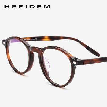 f876a1db86 Gafas de acetato montura para hombres Vintage Retro gafas de ojo redondas  para mujeres marco óptico hombre gafas mujer Japón empollón gafas 9103