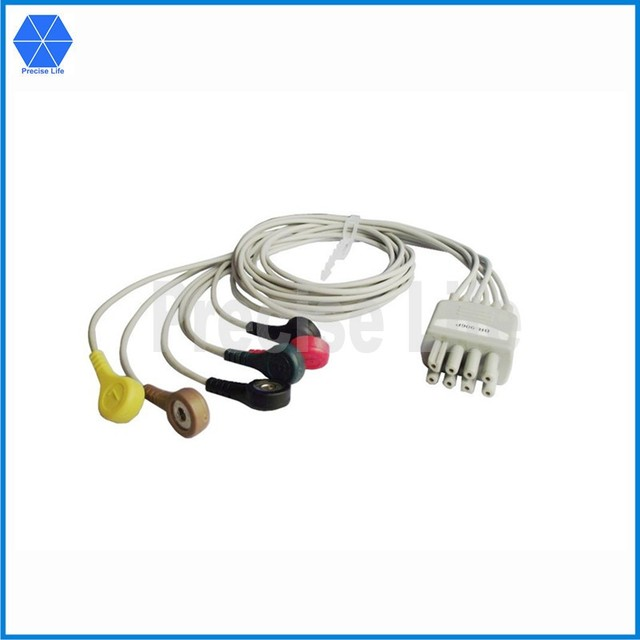 Compatible replacement NK BR 906P ECG lead wire set 5 leads 90cm ...