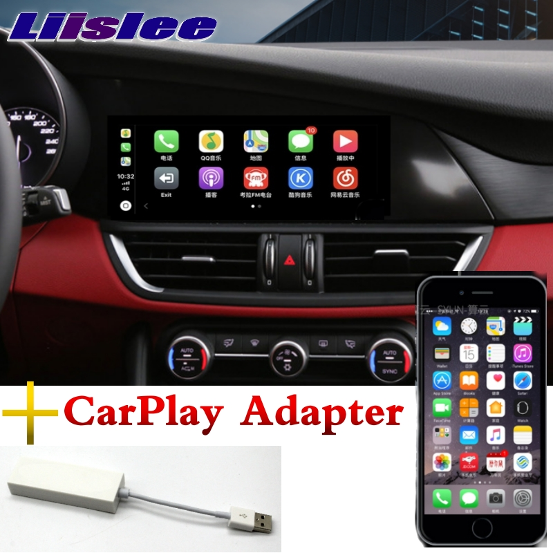 For Alfa Romeo Giulia 2017 2018 LiisLee Car Multimedia CarPlay Adapter 10.25