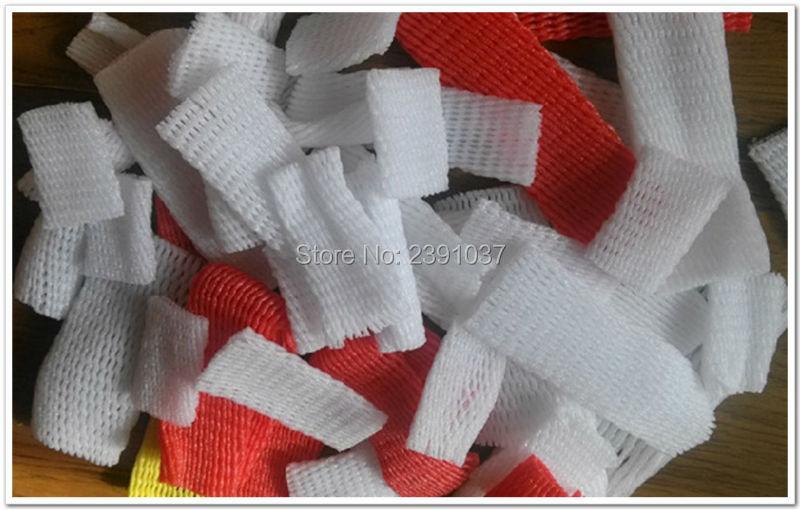 6cm * 5cm 2000 Uds espesar blanco EPE espuma de fresa manga de malla neto huevo neto fruta manga empaquetado por red material de precio al por mayor - 5