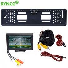BYNCG Европейская Автомобильная камера заднего вида для номерного знака, Автомобильная камера заднего вида, 170 градусов, резервная камера заднего вида, водонепроницаемая камера для автомобиля