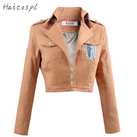 Attack On Titan Cosplay Shingeki No Kyojin Jacket Anime Costume Women Men Eren Mikasa Top Long