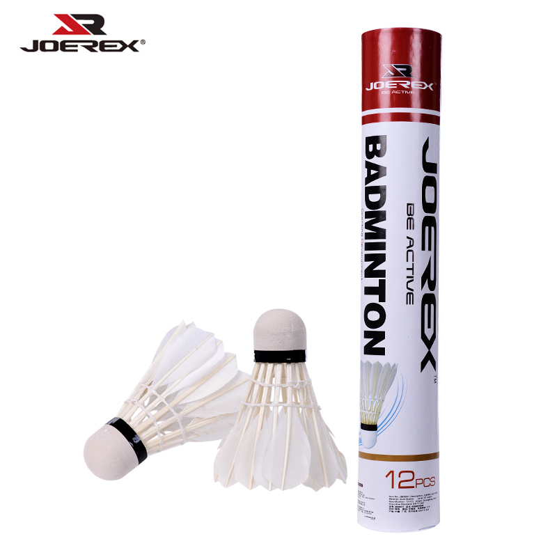 Joerex 12Pcs White Duck Feather Shuttlecocks Badminton Sport Training Game Shuttlecocks SBDS001