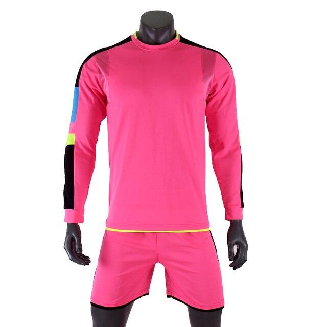 fafa4759c 2017 Child Kids Men Football Jerseys Kit Long Sleeve Blank Soccer Training  Suit football jersey custom DIY goalkeeper uniforms