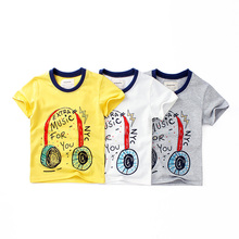 Boy short sleeve T-shirt cartoon children summer new fashion girl O-Neck shirt Pure cotton