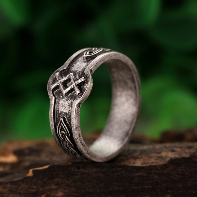 1pc Viking Inguz Rune Rings Men Dagaz Symber Signet Runic Ring God