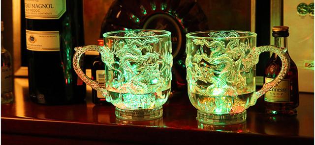 Dragon Patterned LED Beer Mug