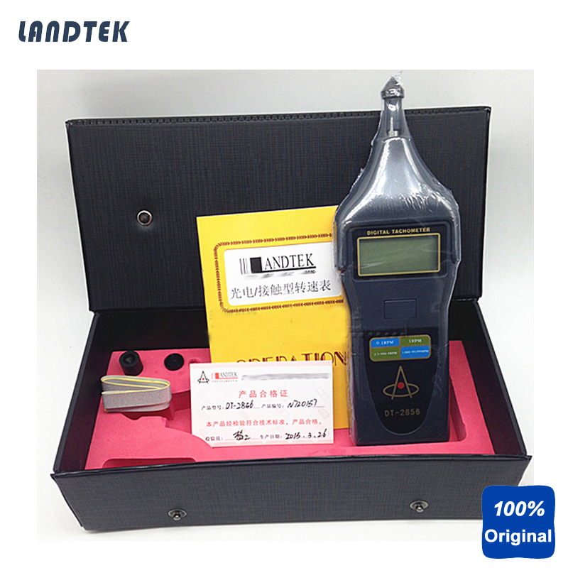 Laser Tachometer Portable Digital Tachometer DT2856 dt 2856 photo touch type tachometer dt2856