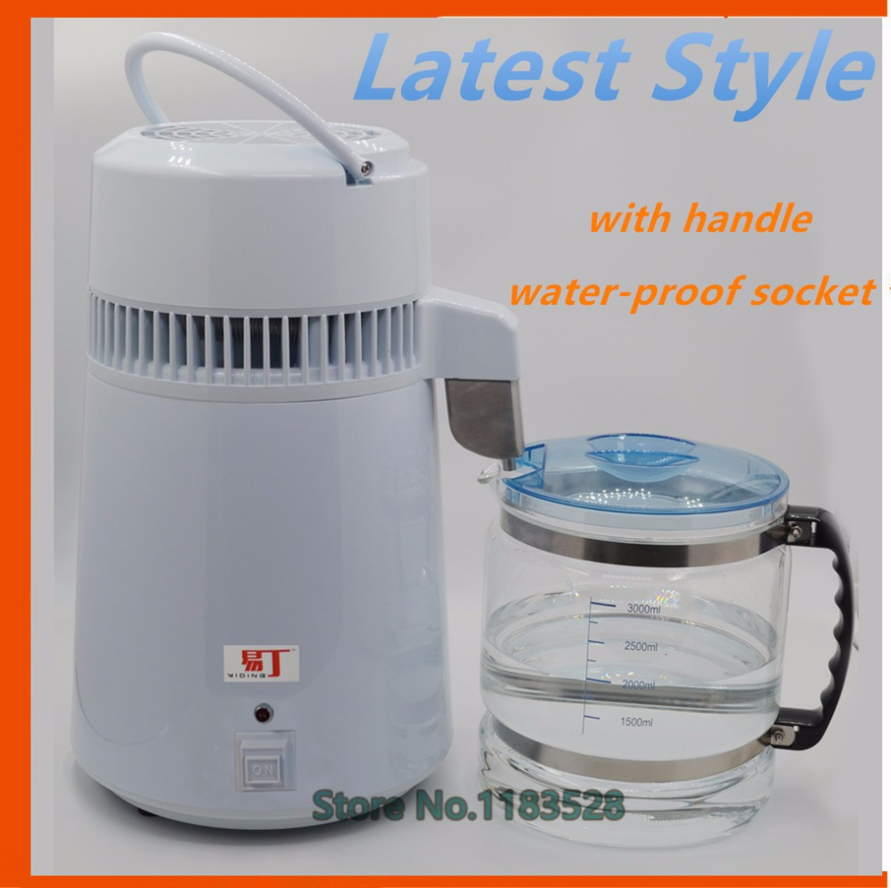 Latest Style Household Dental Water Distiller Electric water purifier Equipment Stainless Steel Water Distiller Machine cukyi household electric multi function cooker 220v stainless steel colorful stew cook steam machine 5 in 1