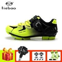 Tiebao Pro obuwie rowerowe mtb spd pedały mountain bike mężczyźni kobiety zapatillas ciclismo samoblokujące sportowe buty do jazdy na rowerze trampki w Buty rowerowe od Sport i rozrywka na