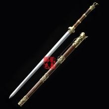 Китайский Традиционный Sword Зеленый Бронза Ручной Боевые Искусства Fungshui Цзянь Дома Декоративные Рождественский Подарок