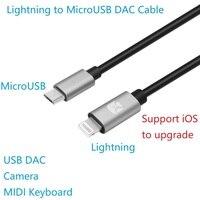 Meenva Lightning-to-MicroUSB USB DAC OTG кабель для iPhone/iPad/iPod Chord Mojo Hugo Pha3 Fiio USB DAC HiFi Oppo HA2 K5