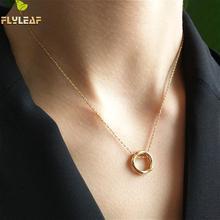 Flyleaf New Arrivals Unique Design Irregular Round Pendant Necklaces For Women 925 Sterling Silver Elegant Jewelry все цены