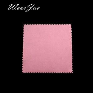 Image 5 - Paño de microfibra para limpieza de joyas, tela de microfibra antideslustre, con logotipo a medida, disponible en 12 colores, plateado y dorado, 500