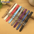 Ultrathin Spun silk Watchband 6mm 8mm 10mm Small Size Replacement Leather Watch bands For Womens