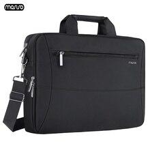 """Mosiso 15.6 """"노트북 가방 케이스 방수 노트북 가방 맥북 hp 레노버 델 아수스 에이서 컴퓨터 숄더 핸드백 서류 가방 바"""