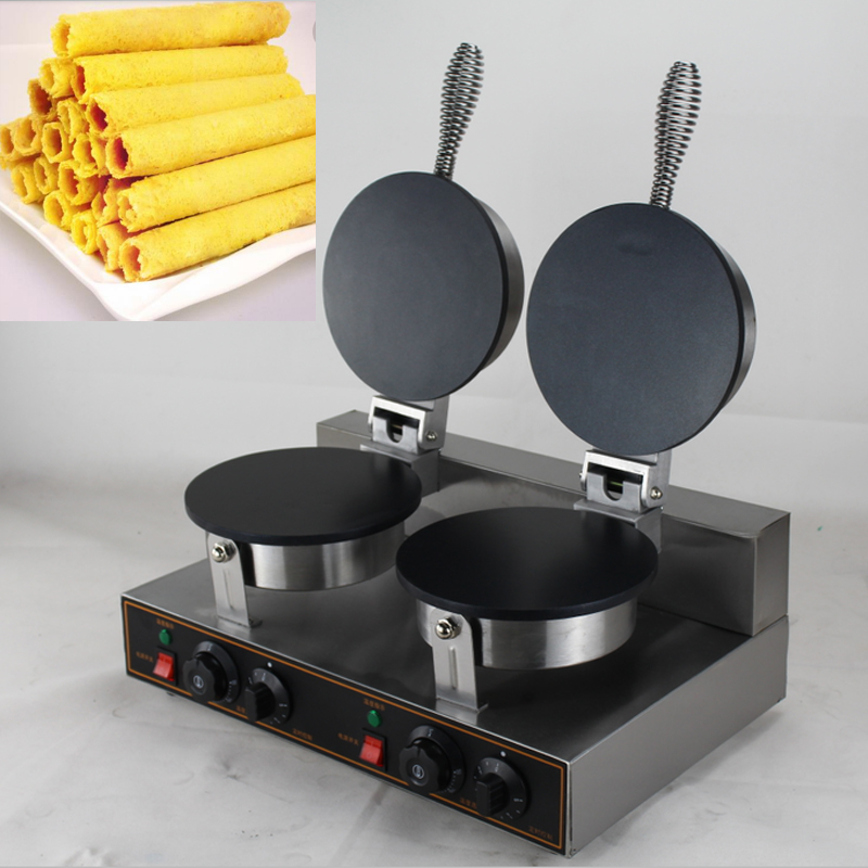China New style crispy egg roll maker machine/Manual Egg roll wafer biscuit machine