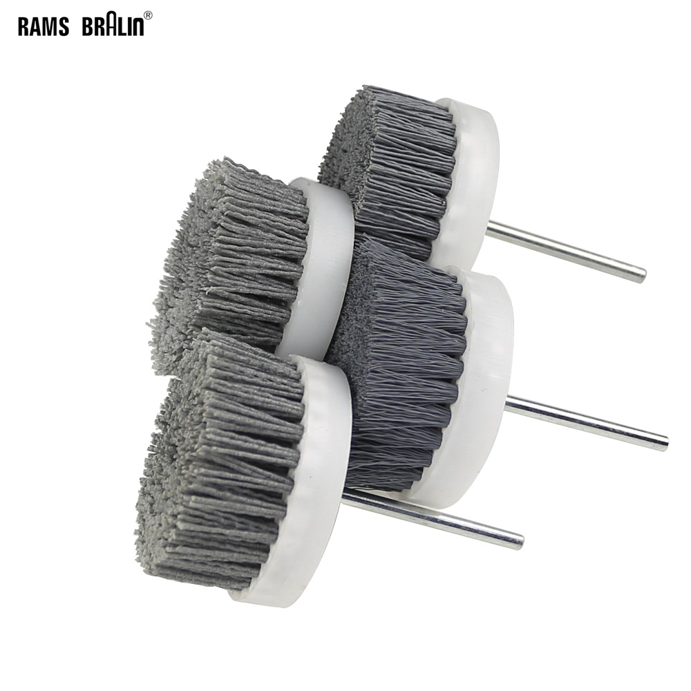 1 Pcs 80*35*6mm Nylon Wire Polishing Brush Wheel Drill Grinding Head For Wood Carving Furniture