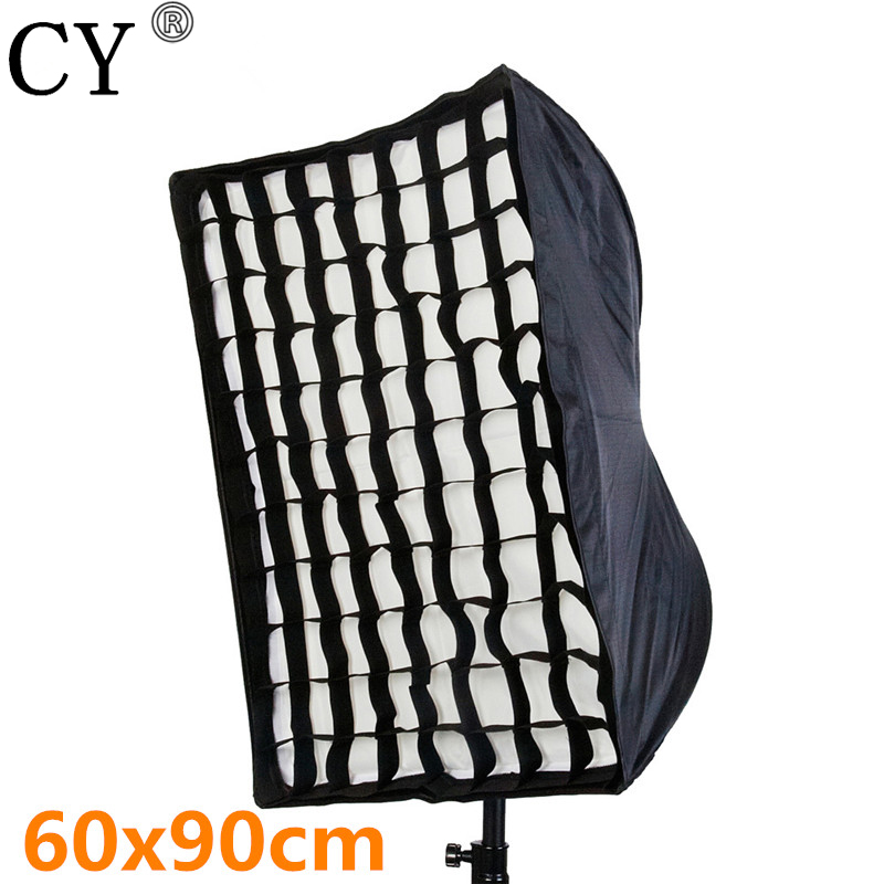 Photo Video Studio 60x90cm Umbrella Softbox Brolly Reflector With Grid For Studio Speedlite PSCS14G