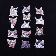 Mini Animal Cat Patch Pocket Iron On Patch Cute Patches For Backpack Accessories Badge Stickers On Clothes Jeans Bags Hip Hop(China)